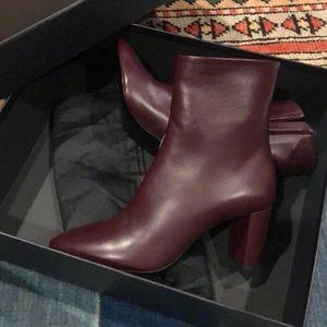 Saint Laurent Lou Leather Bootie - Brand New